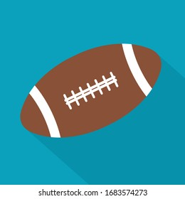 Rugby-Ball-Symbol - Vektorillustration