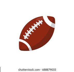 Rugby ball isolated vector icon. Athletic equipment, healthy lifestyle, fitness activity vector illustration.