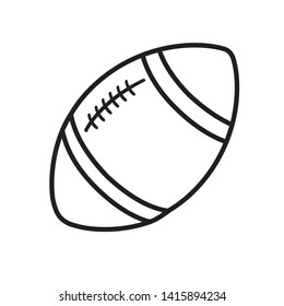 Rugby ball line icon isolated on a white isolated on white eps 10