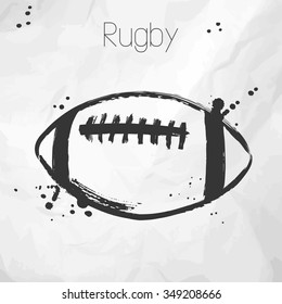 Rugby Ball Sketch Images Stock Photos Vectors Shutterstock