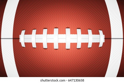 Rugby ball texture, sporty background, vector illustration
