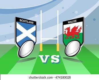 Rugby championship, Scotland vs Wales match