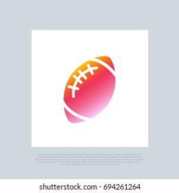 Rugby or Football ball. Vector favicon clip-art. Compatible with PNG, JPG, AI, CDR, SVG, EPS, PDF, ICO.
