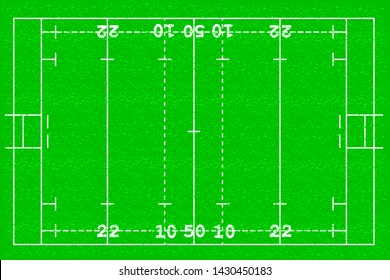 Rugby football field background Football grass field vector illustration layout