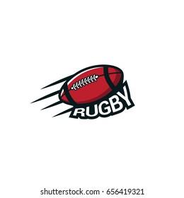 Rugby Sport logo & emblem vector