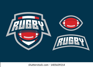 Rugby Sport Style Logo Design
