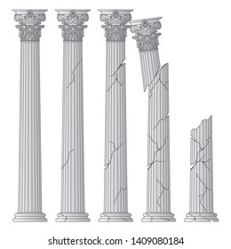 Rome Broken Columns Images, Stock Photos & Vectors | Shutterstock