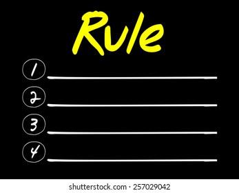RULE blank list, business concept