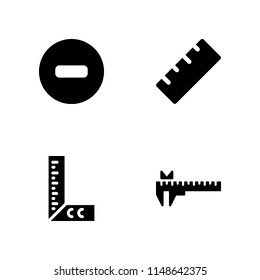 rule icon. 4 rule vectors with no entry, ruler and caliper icons for web and mobile app