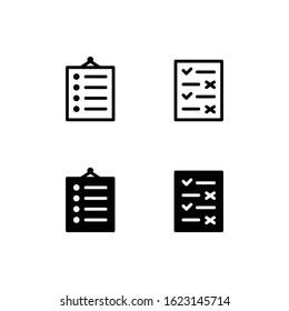 Rule Icon Logo Vector Symbol. Regulation Icon