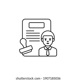 Rule vector outline icon style illustration. EPS 10 file