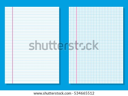Ruled Paper Lined Graph Paper Squares Stock Vector Royalty Free
