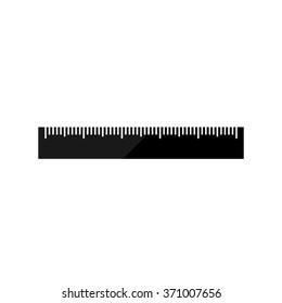 ruler  - black vector icon