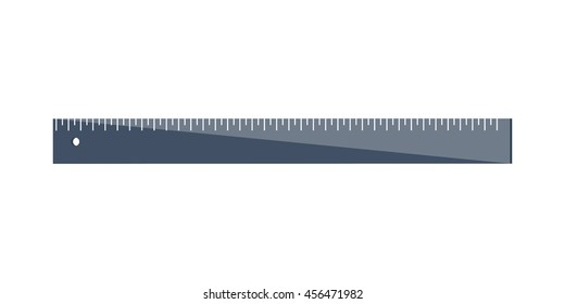 Ruler in a flat style. Scale. Width and length. Measurement tool. Vector illustration.