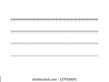 Ruler scale measure measurement scale chart  vector illustration on background