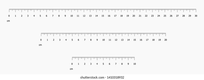 Ruler scale set vector illustration