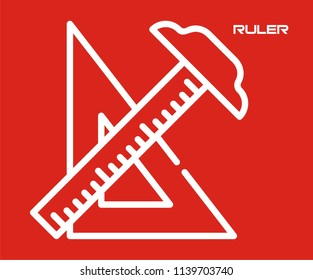 RULER SCALE VECTOR ICON