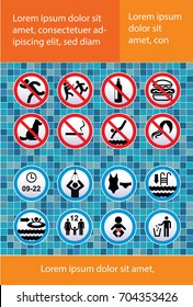 Rules swimming pool