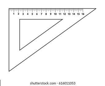 Ruller triangle vector icon