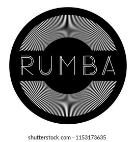 rumba label , stamp