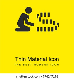 Rummy bright yellow material minimal icon or logo design