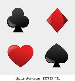 rummy cards game symbol vector illustration