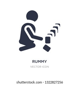 rummy icon on white background. Simple element illustration from People concept. rummy sign icon symbol design.