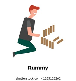 Rummy icon vector isolated on white background, Rummy transparent sign , human illustrations , human illustrations