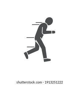 Run away emotion line color icon. Sign for web page, mobile app, button, logo