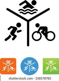 Run Bike Swim Triathlon icon