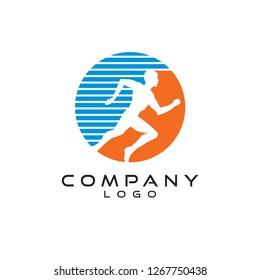 run fast/Sports logo design vector