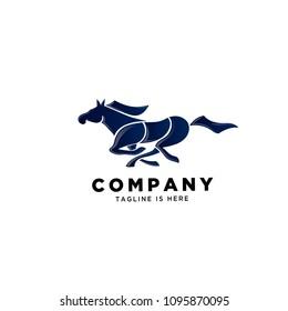 Run horse logo