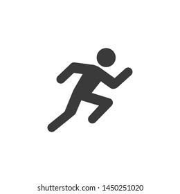 Run icon template color editable. Run symbol vector sign isolated on white background. Simple logo vector illustration for graphic and web design.