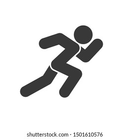 Run icon vector sign isolated on white background. Run symbol template color editable