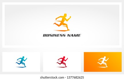 Run Jogging Sprint Marathon Logo