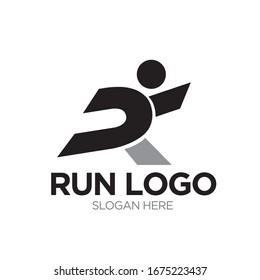run logo designs modern and simple