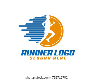 Run logo template, perfect for marathon and race event