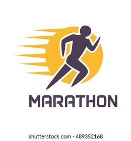Run, marathon, fun run logo