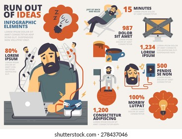 Run Out of Ideas Infographic Elements