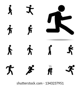 run, slowly icon. Walking, Running People icons universal set for web and mobile