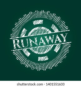 Runaway with chalkboard texture. Vector Illustration. Detailed.
