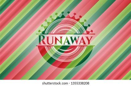 Runaway christmas emblem.