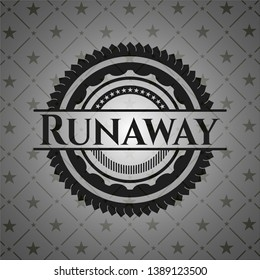 Runaway dark badge. Vector Illustration. Detailed.