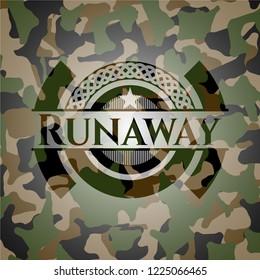 Runaway on camo pattern