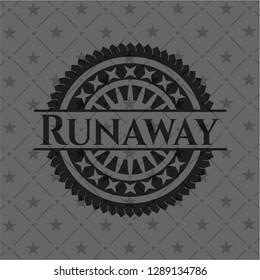 Runaway retro style black emblem