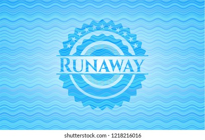 Runaway sky blue water emblem.