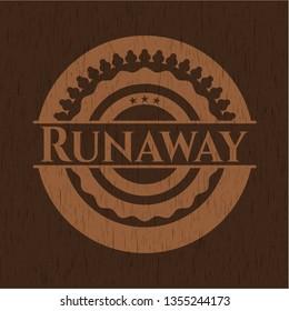 Runaway wood signboards