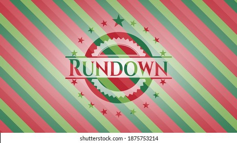 Rundown christmas emblem. Vector Illustration. Detailed.