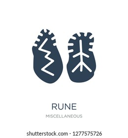 rune icon vector on white background, rune trendy filled icons from Miscellaneous collection, rune vector illustration