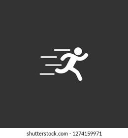 runer silhouette running fast icon vector. runer silhouette running fast vector graphic illustration